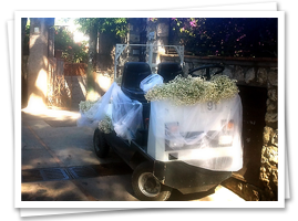 Electric cart for wedding in Capri