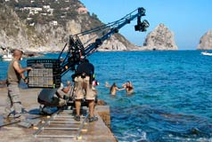 Filming of advert Capri